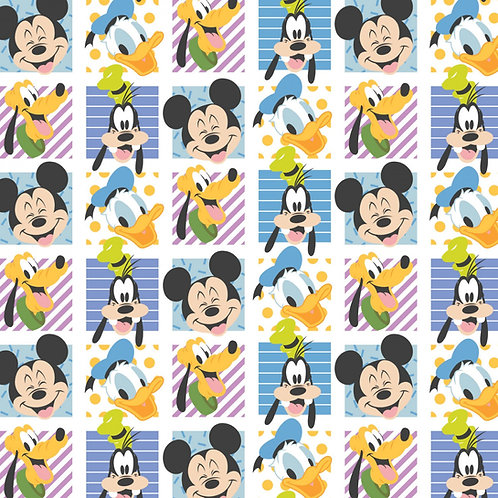 Disney Mickey Mouse Party Blocks Fabric