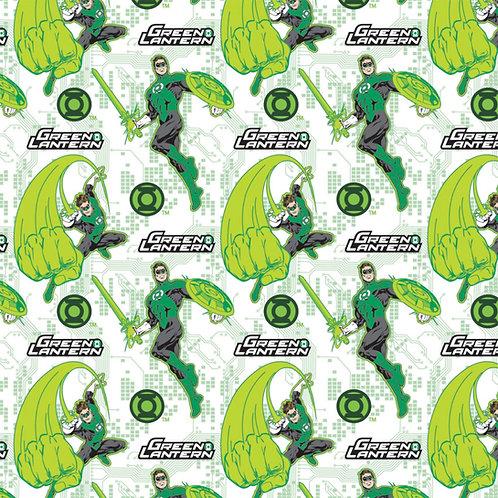 DC Comics Green Lantern Fear Nothing Fabric - White