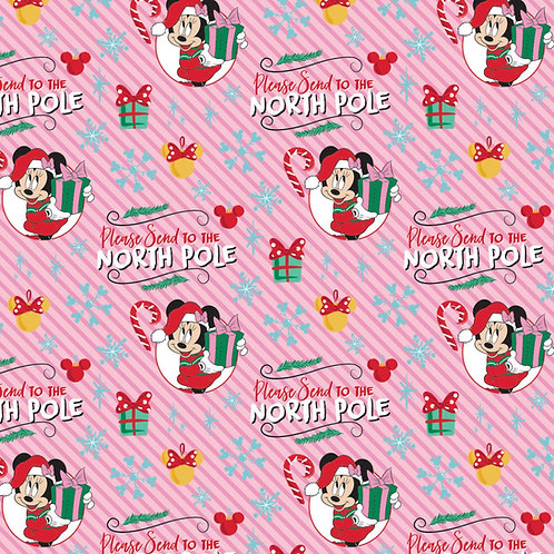 LP Disney Minnie Mouse North Pole Christmas Fabric