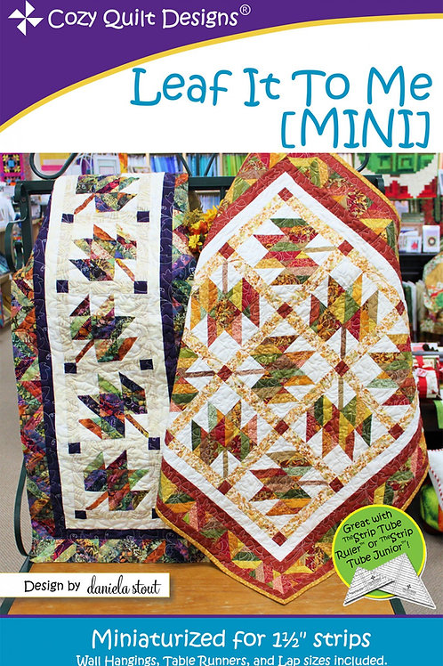 Cozy Quilt Designs Leaf It To Me Mini Quilt Pattern
