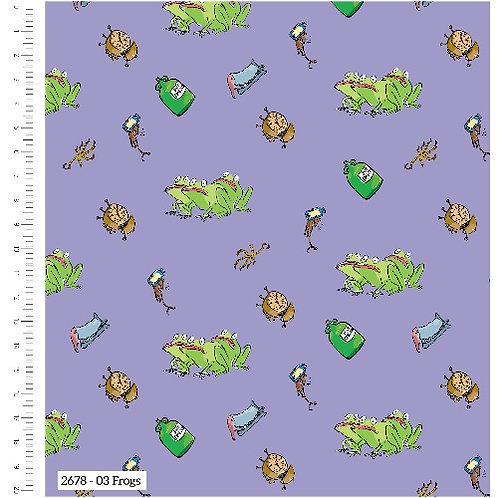 Roald Dahl The Witches Frogs Fabric