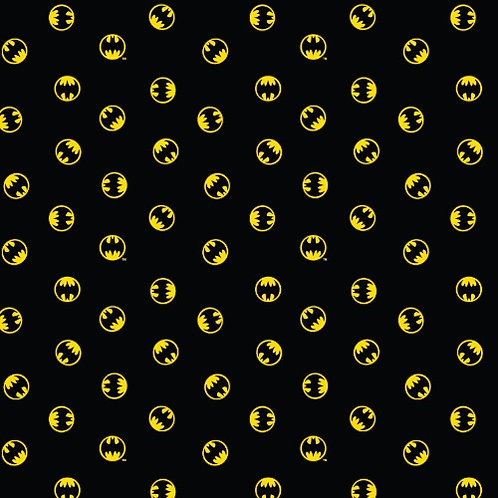 DC Batman Logo Circle Fabric