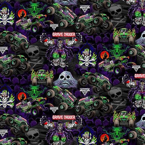 Monster Jam Monster Trucks Grave Digger Graphics Fabrics
