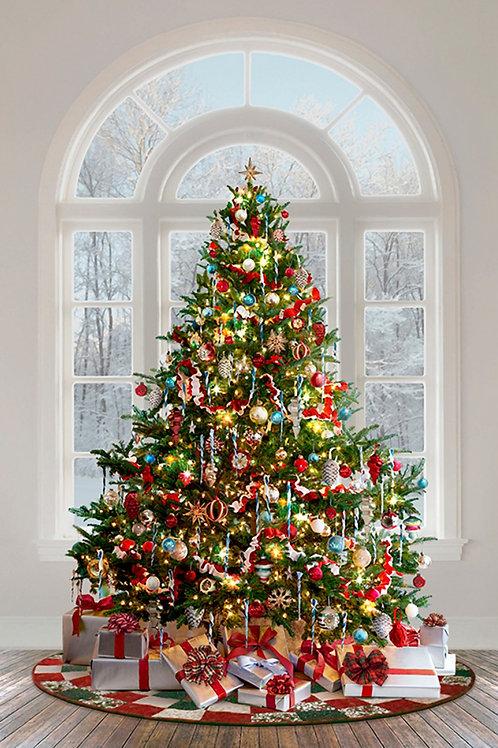 Christmas Tree Digitally Printed Panel