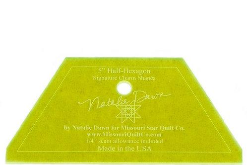 "Missouri Star Quilt Company Half Hexagon Large 10"""