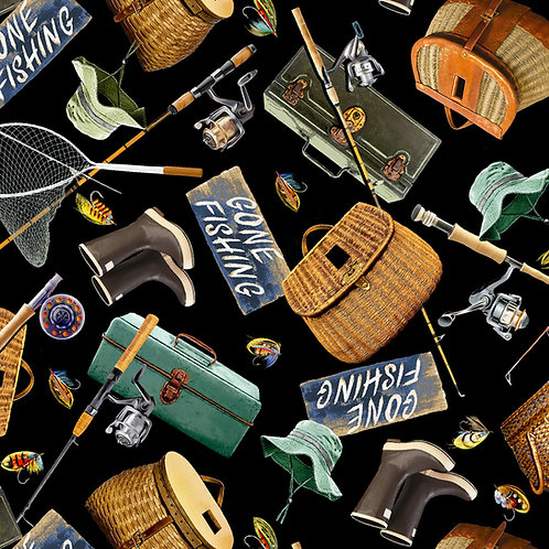 Timeless Treasures Gone Fishing Fabric