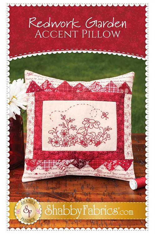 Redwork Garden Accent Pillow Pattern