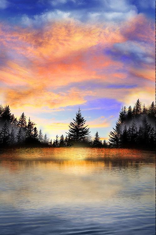 Multi Sunset Lake Panel