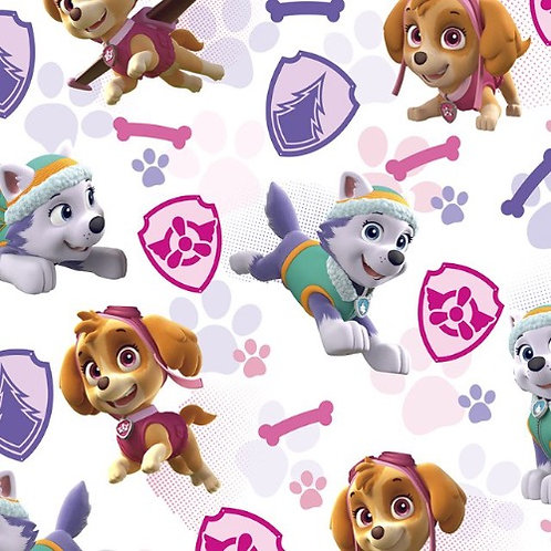 Paw Patrol Girls Badges Fabric