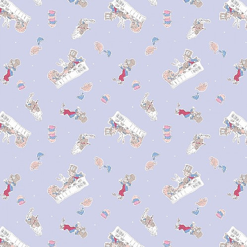 Alice in Wonderland Mad Hatters Party Fabric