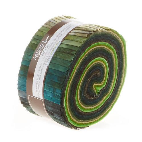 Robert Kaufman Prisma Dyes Batik Roll Up - Rainforest