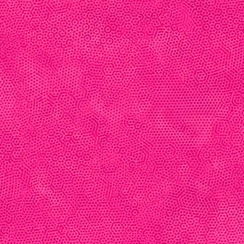 1867/E24 Scorching Pink Makower Andover Dimples Fabric
