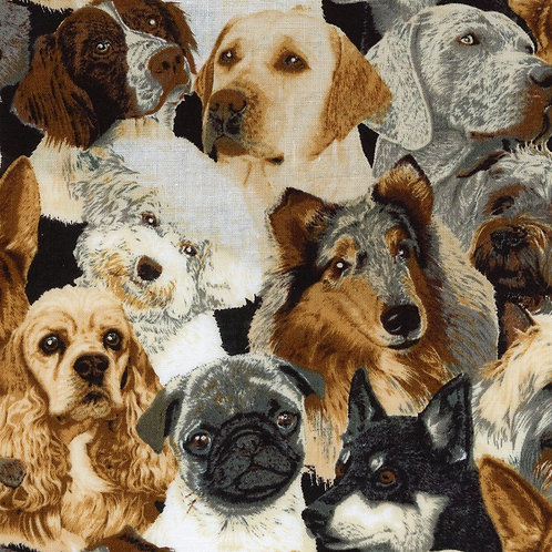 Dog Breeds Fabric
