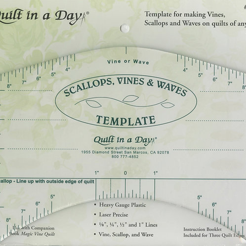 Scallops, Vines and Waves Template