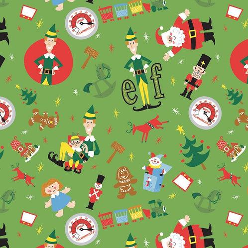 Elf Play Time Toss Fabric