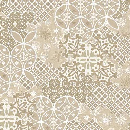 LP Montage Cream Makower Scandi Christmas Fabric
