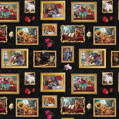 Madame Victoria's Elegant Cats - Frames Fabric