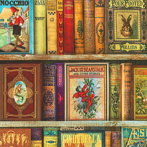 Antique Library of Rarities Shelves Fabric