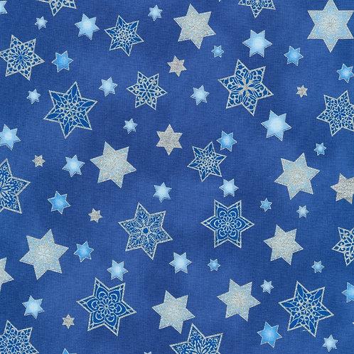 Stars of Light Blue Stars with metallic Fabric