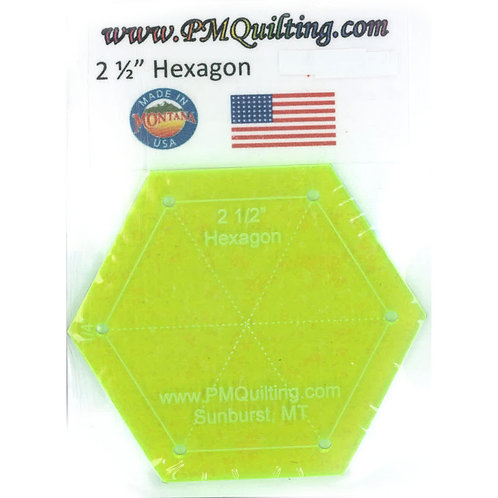 "PM Quilting 2.5"" Hexagon Template"
