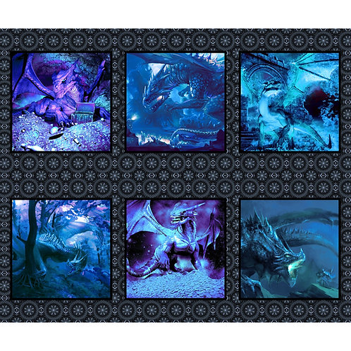 Small Dragons Blue Fury Panel