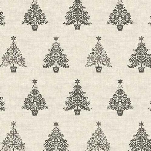 Silver Tree Makower Scandi Christmas Fabric