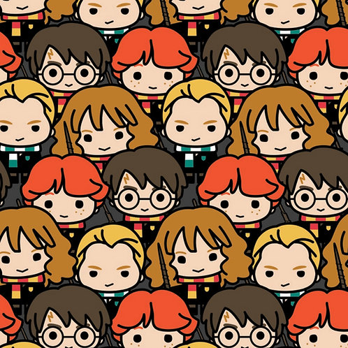 Harry Potter Kawaii Characters Fabric