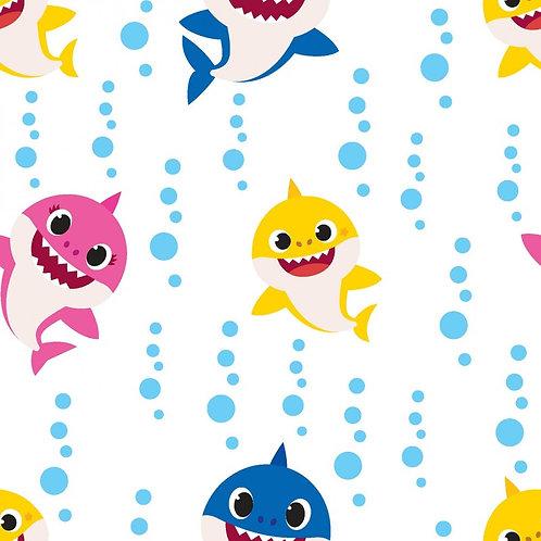Baby Shark Family Bubble Blast Fabric