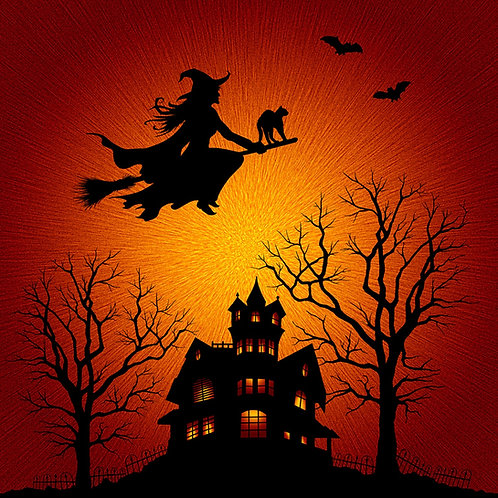 Citrine Halloween Witch Panel