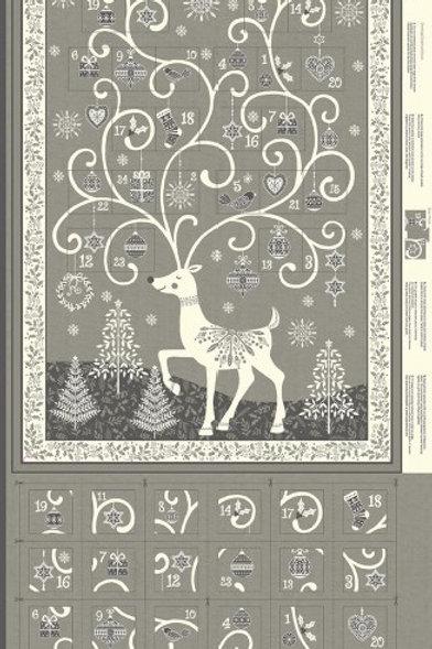 Reindeer Advent Panel Grey