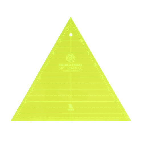 "Missouri Star Quilt Company 8"" Equilateral 60 Degree Triangle Template"