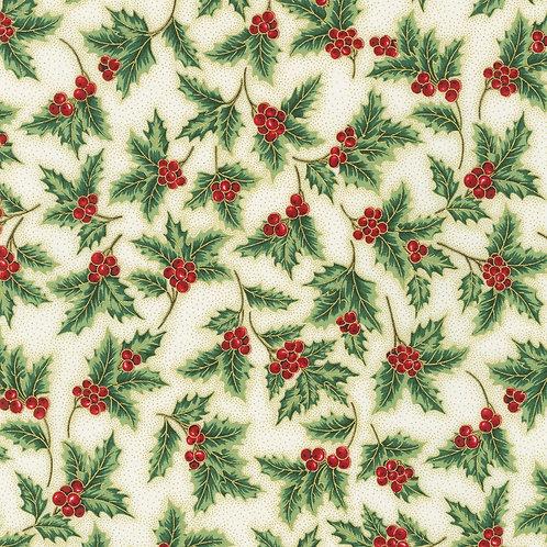 Holiday Flourish Holiday Holly Berries Cream w/metallic
