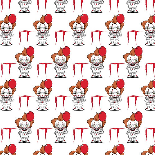 IT Pennywise Halloween Fabric