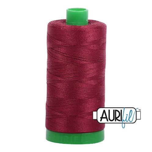 Aurifil 40 1000m 2460 Dark Carmine Red Cotton Thread