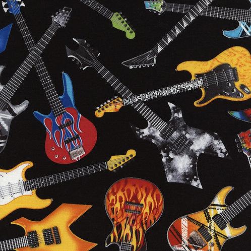 Multicoloured Guitars Rock Our Fabric