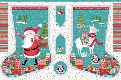 Let It Snow Christmas Stocking Panel