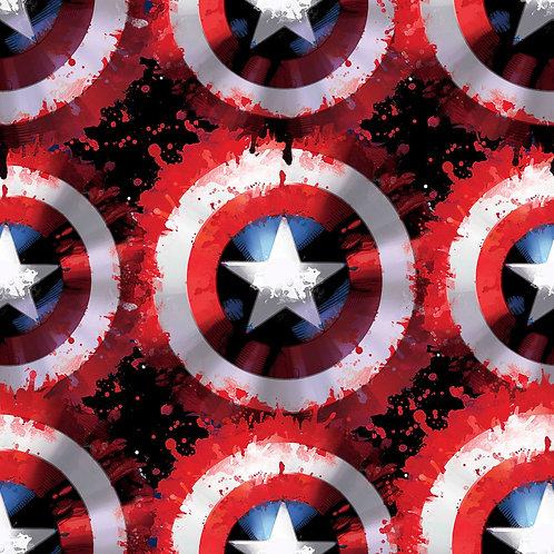 LP FLEECE - Marvel Captain Shield Fabric. UK ONLY