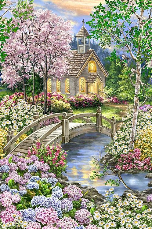 Multi Peaceful Garden Panel