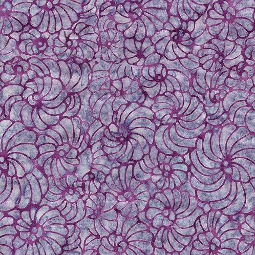Island Batik Mystery - Scrolling Lilac