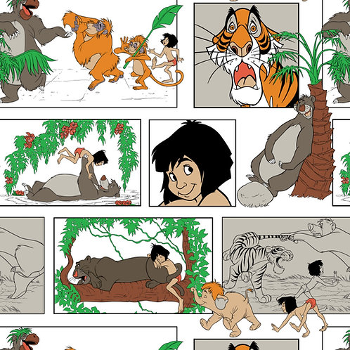 FLANNEL - Jungle Book Fabric