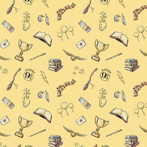 Harry Potter Magic Fabric - Yellow