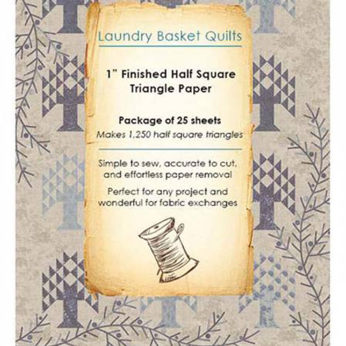 Laundry Basket Quilts Half Square Triangle Paper 1in for Layer Cakes .0527