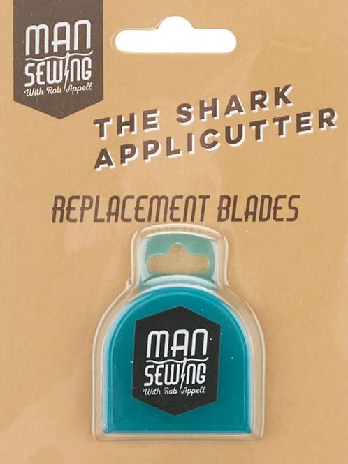 Man Sewing Shark Applicutter Replacement Blades x2