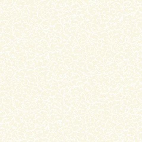 Makower Scroll White on Cream Fabric 760/Q2