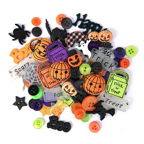 Halloween Value Pack Button Embellishments