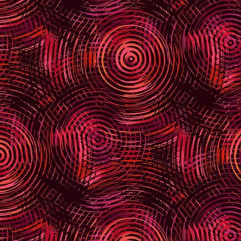 "Henry Glass 108"" Circle Play Red Tones Ombre Fabric"