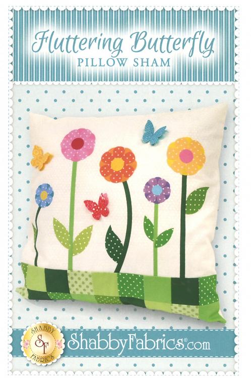 Fluttering Butterfly Pillow Sham Pattern