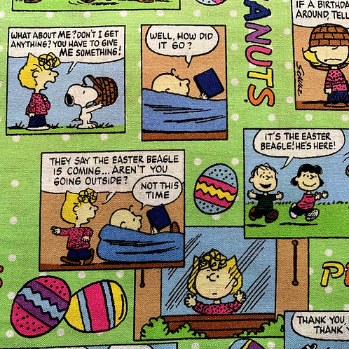 Peanuts Snoopy Easter Comic Fabric
