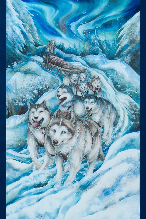 Ice Wolves Digitally Printed Fabric Panel