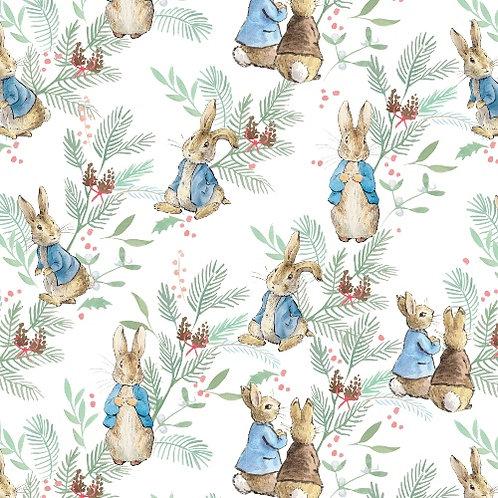 Christmas Ferns Peter Rabbit Christmas  Fabric